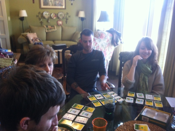 Playing games at Ryan's Grandma's